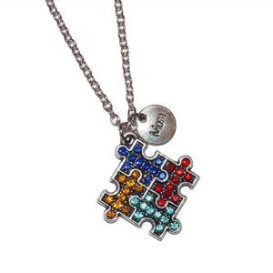 Jewelry - Autism Awareness Puzzle Necklace Mom Gift